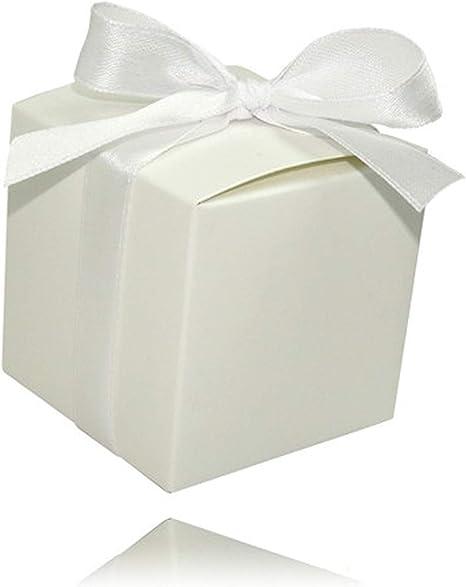 Einssein 12x Caja de Regalo Boda Puro Blanco Cajas Bonitas para cajitas Regalos Bombones Carton bolsitas Papel chuches Bodas Bautizo pequeñas pequeña recordatorios comunion Navidad Decorar: Amazon.es: Hogar