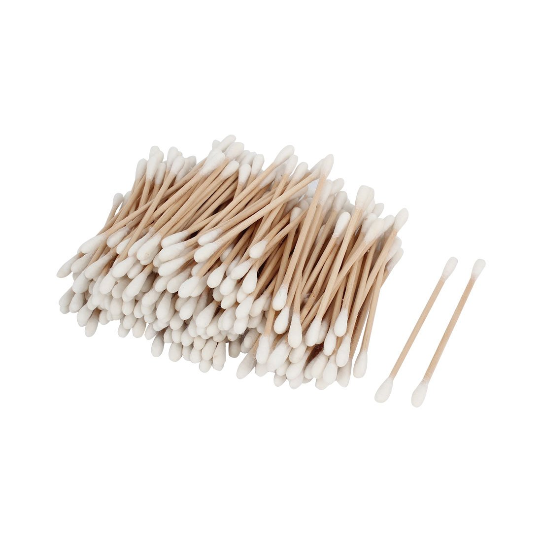 uxcell Disposable Double End Wooden Tube Cosmetic Cotton Swab Bud 250 Pcs a14092200ux0748