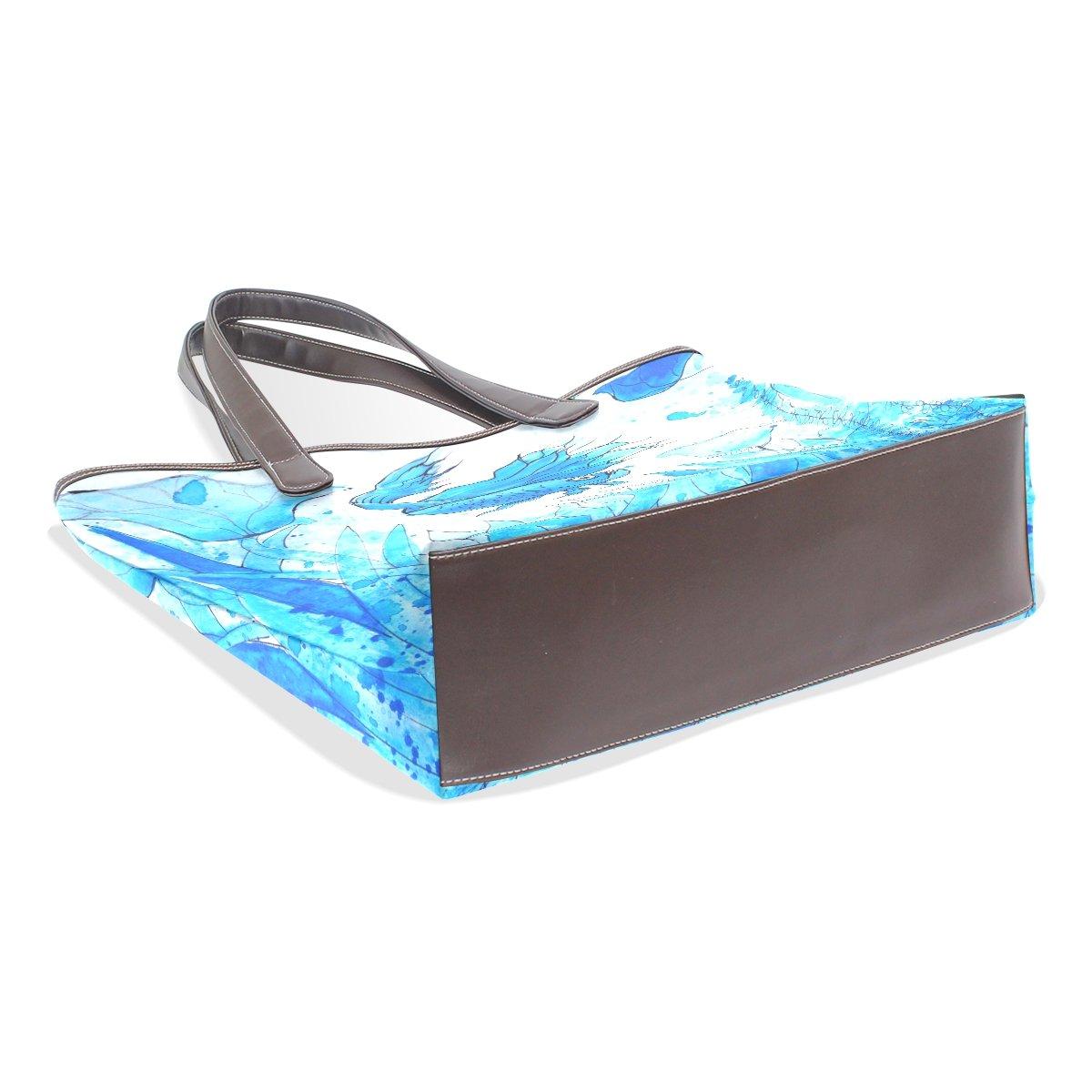 SCDS Goldfish PU Leather Lady Handbag Tote Bag Zipper Shoulder Bag
