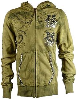 KQHD005 Size 38 Medium KONQUEST Platinum Mens Toxic Spider Hoody Mystic Smoke