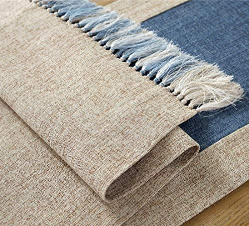 "HomeyHo Rustic Table Runner with Fringe Natural Home Table Runner Tea Party Table Runner Decorations Birthday Dinner… - Material: High quality cotton blend fabric Features: Handmade table runner with fringe, modern rustic style, with well skid resistance and heat resistant, provide your dinning table a look of elegant, it's a good choice for your dinner table, coffee table, tea table, end table, TV bench, shoes cabinet??Œrefrigerator and bed. Simple designs and fashion style, it will be a suitable gift for friends/workmate, also perfect for festivals(Thanksgiving, Halloween, Christmas, Easter, etc) Warn Tips: The recommended size is 20"" ~ 24""(50 ~ 60 cm) longer than your table. For different occasions, please choose the suitable size - table-runners, kitchen-dining-room-table-linens, kitchen-dining-room - 61Hg8y8DMZL -"