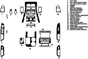 Rvinyl Rdash Dash Kit Decal Trim for Kia Sorento 2011-2013 - Carbon Fiber 3D (Silver)