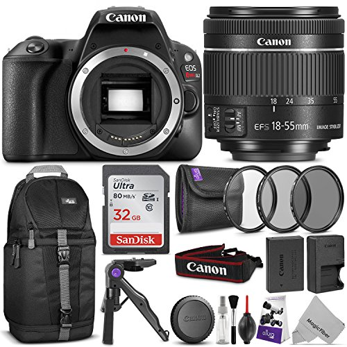 Canon EOS Rebel SL2 DSLR Camera with 18-55mm Lens w/ Advanced Photo and Travel Bundle by Canon