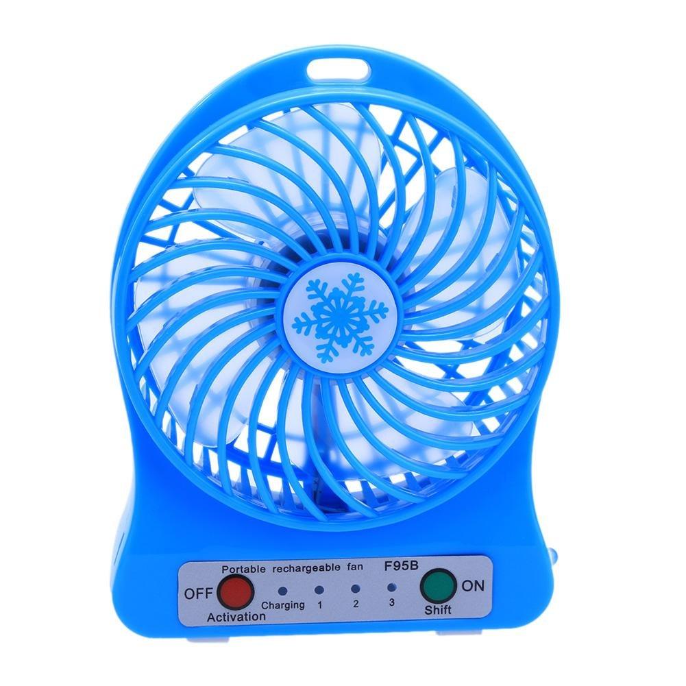 Widewing Mini USB Fan LED Light Radiator Battery Fan PC