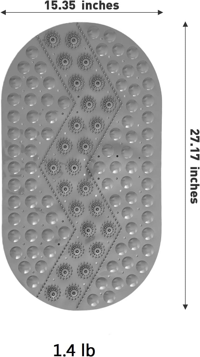 PVC Material Mildew proof Machine Washable Bathroom Mats 15 27 inch Non-Slip Bath Mats /& Bathtub Mats W//Suction Cup KALUO Shower Mats for Foot Magnet Therapy