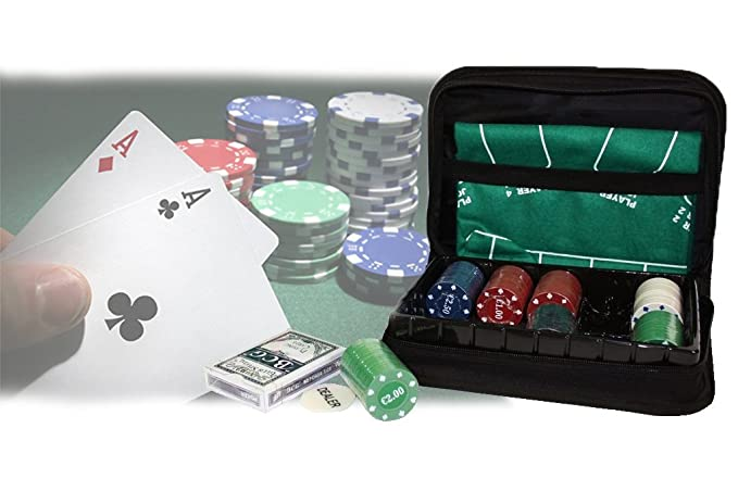 2 opinioni per Set poker in astuccio a cerniera da viaggio 150 fiches 1 mazzo di carte incluso