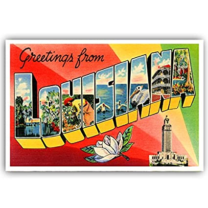 Amazon greetings from louisiana vintage reprint postcard set greetings from louisiana vintage reprint postcard set of 20 identical postcards large letter us state m4hsunfo