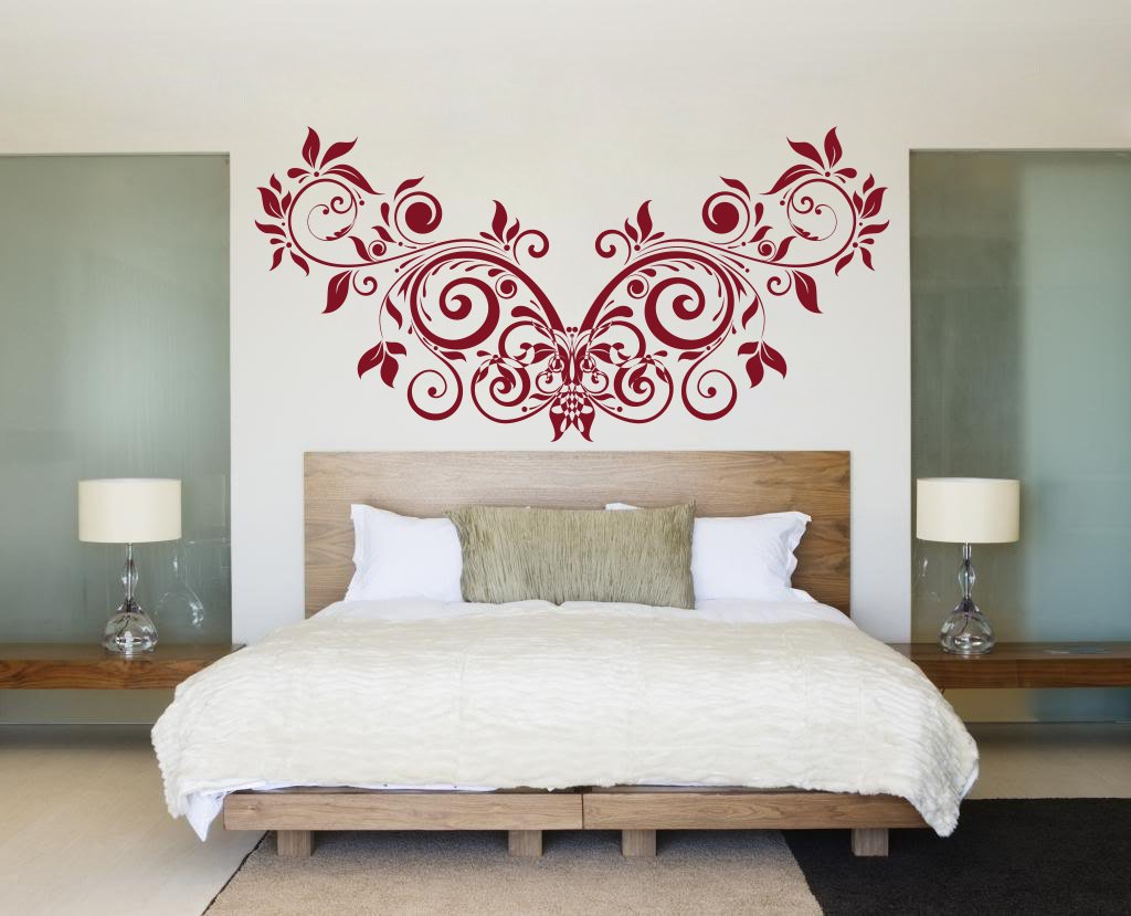 Buy Decor Kafe Home Decor Floral Creative Design Wall Sticker Wall Sticker For Bedroom Wall Art Wall Poster Pvc Vinyl 71 X 35 Cm Online At Low Prices In India Amazon In