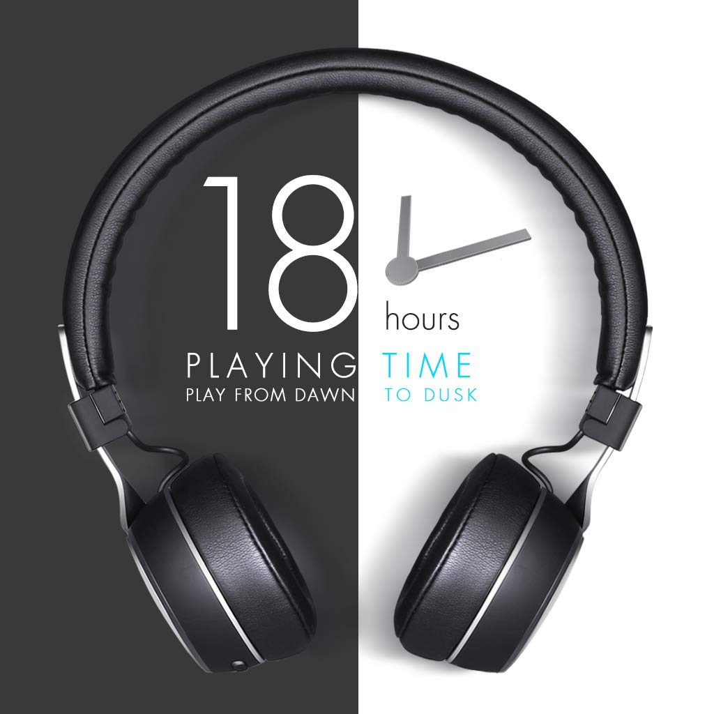 Sunliking Wireless Active Noise Canceling Bluetooth Headphones with Mid HI-FI Deep Bass, CD-Like Audio, On Ear Fashion Headphones Up to 18 Hours Playtime Foldable Headset for Airplanes Travel Work TV Tablet PC and More