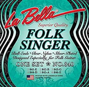 La Bella 840 Folksinger, Medium Tenion, Ball End