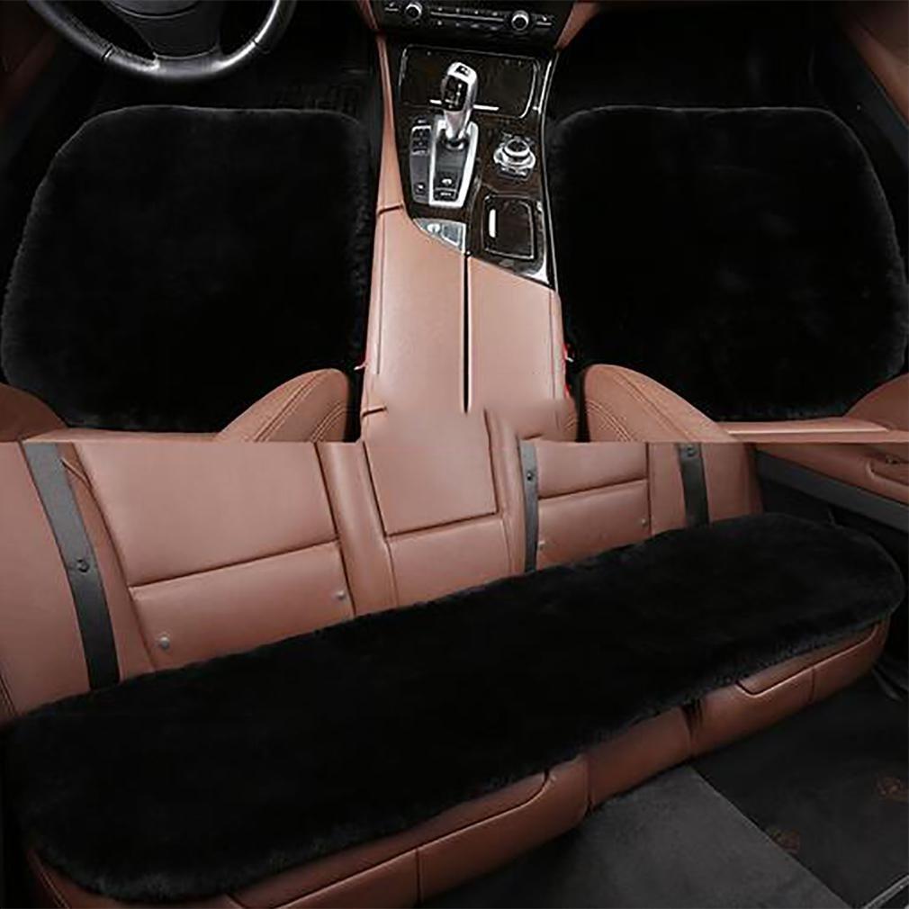 LPY-Car supplies 3-piece set of cushions universal 100% pure wool winter , fog grey