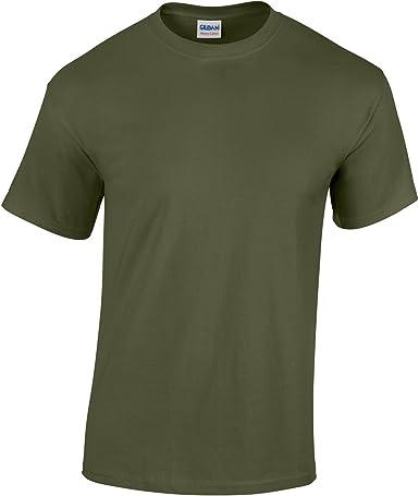 Gildan Heavy Adulto de algodón Camiseta Verde Militar XL: Amazon.es: Ropa y accesorios