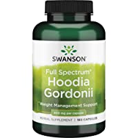 Swanson Hoodia Gordonii Weight Management Antioxidant Herbal Supplement 400 mg 180 Capsules (Caps)