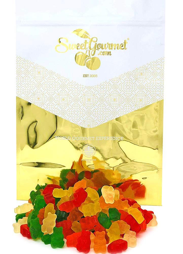 SweetGourmet Assorted Sugar Free Gummi Bears   Albanese Bulk Candy Gummy   Strawberry, Apple, Orange, Pineapple, Lemon, Cherry   Fat Free, Gluten Free, Dairy Free, MSG Free   4 Pounds
