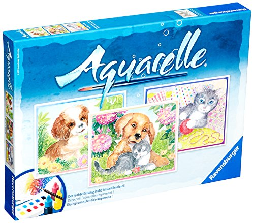 Ravensburger Aquarelle Watercolors Made Easy Animal Friends Playset