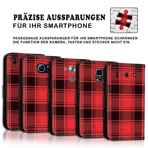 Wallet Book Style Flip Handy Tasche Case Schutz Hülle Schale Motiv Etui für Apple iPhone 6 / 6S - Design Flip MVD219