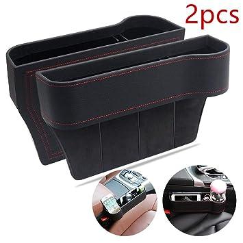 Amazon.com: 2 Piezas de Piel sintética asiento consola caja ...