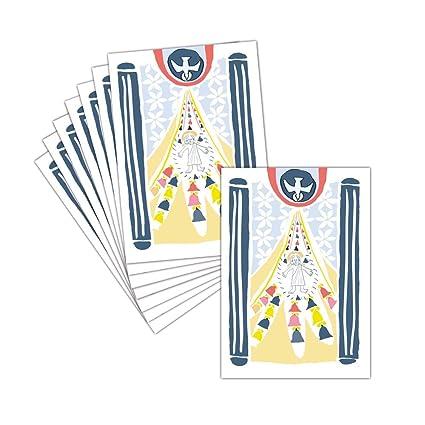 Tarjeta feliz Pascua - 8 tarjetas - Tarjeta de dibujo de ...