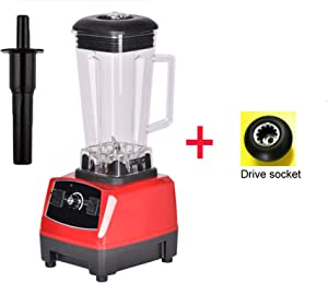 3Hp 2200W 2L Heavy Duty Commercial Professional Smoothie Blender Mixer Juicer Food Processor,Red Extra Driver,Uk Plug
