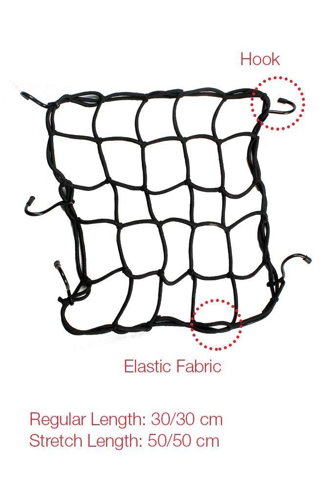 elegant high strength elastic bungee cargo net black for bajaj