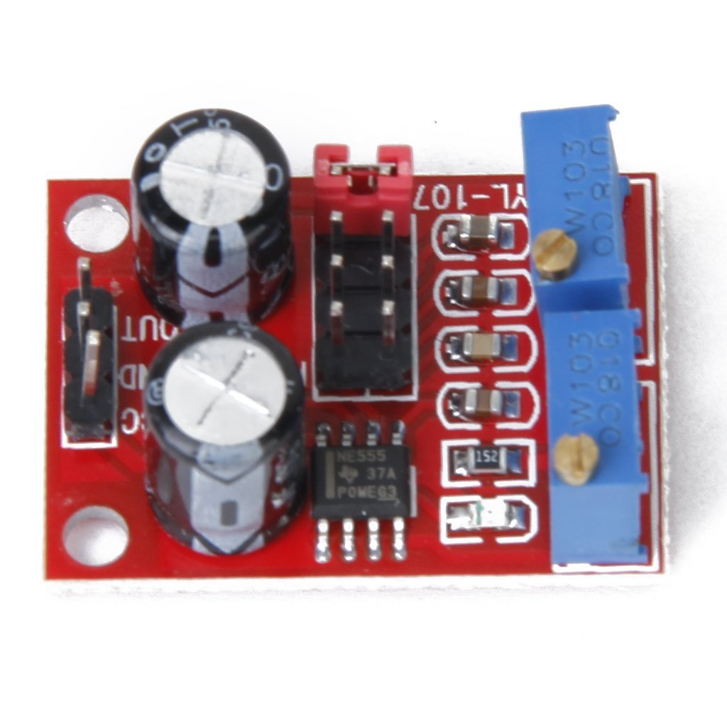20PCS NE555 pulse frequency duty cycle adjustable module square wave rectangular wave signal generator stepper motor drive by Dong Yu Yuan