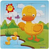 Koly® Niños de Madera 9 Piece Jigsaw Juguetes para la Educación Infantil y Aprendizaje Puzzles