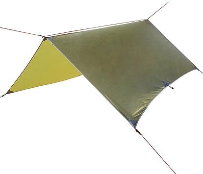 Toldo perfecto para lluvia, 10 x 10 m, portátil, ligero, plegable, impermeable, lona para tienda de campaña, para playa, Pícnic, Camping, pesca, ...