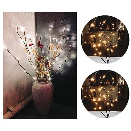 Amazon.com: Sttech1 - Lámpara LED de rama de sauce, luces de ...