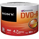 Sony DVD Recordable Media - DVD-R - 16x - 4.70 GB - 50 Pack Spindle - Bulk