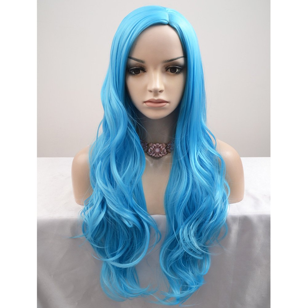 BERON Long Curly Multi-Color Charming Full Wigs for Cosplay Girls Party or Daily Use Wig Cap Included (Colorful) BERON WIG