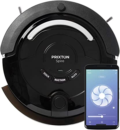 PRIXTON Spire 916 - Robot Aspirador/Robots Aspiradores Fregasuelos, con App para Móvil, Programable, para Suelo Seco y Húmedo con 3 Modos de Limpieza: Automática, Esquinas, Profunda: Amazon.es: Hogar