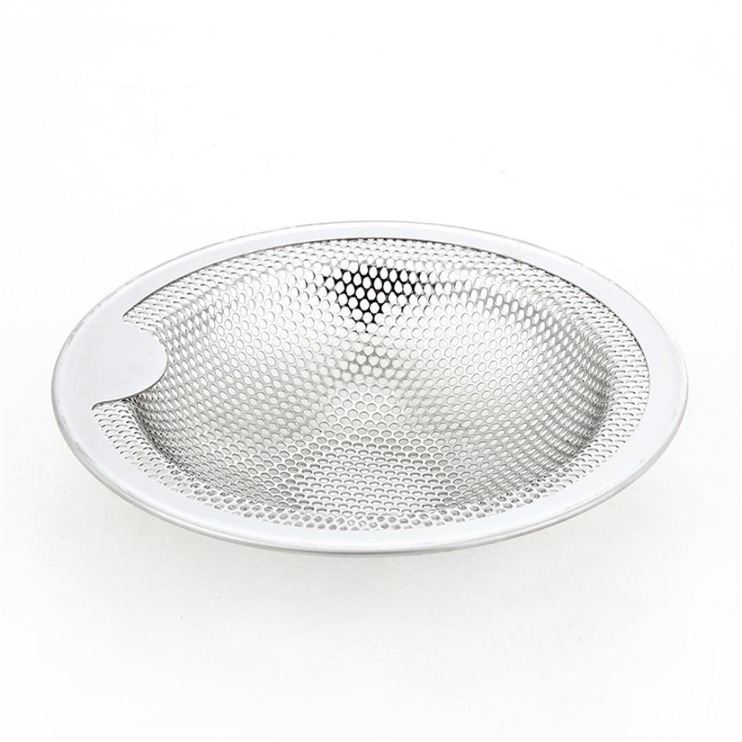 Drain Plug Cover, Hunpta Kitchen Water Sink Strainer Cover Floor Drain Plug Bath Catcher Drain Plug (Silver, S)