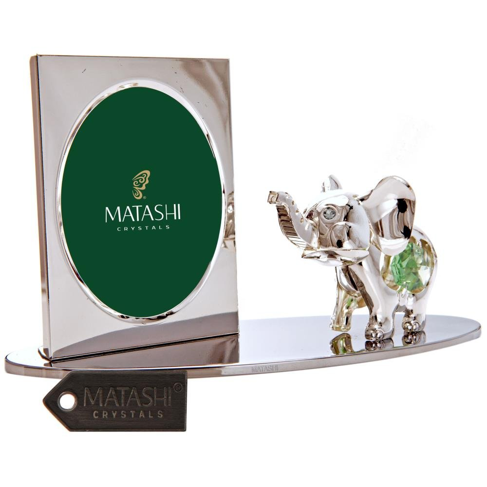 Matashi Cartoon Elephant Picture Frame with Genuine Crystals CTFS0175