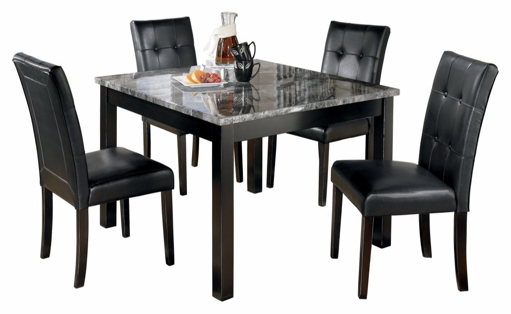 Amazon.com   Ashley Furniture Signature Design   Maysville Dining Room  Table Set   Contemporary   Set Of 5   Black   Table U0026 Chair Sets