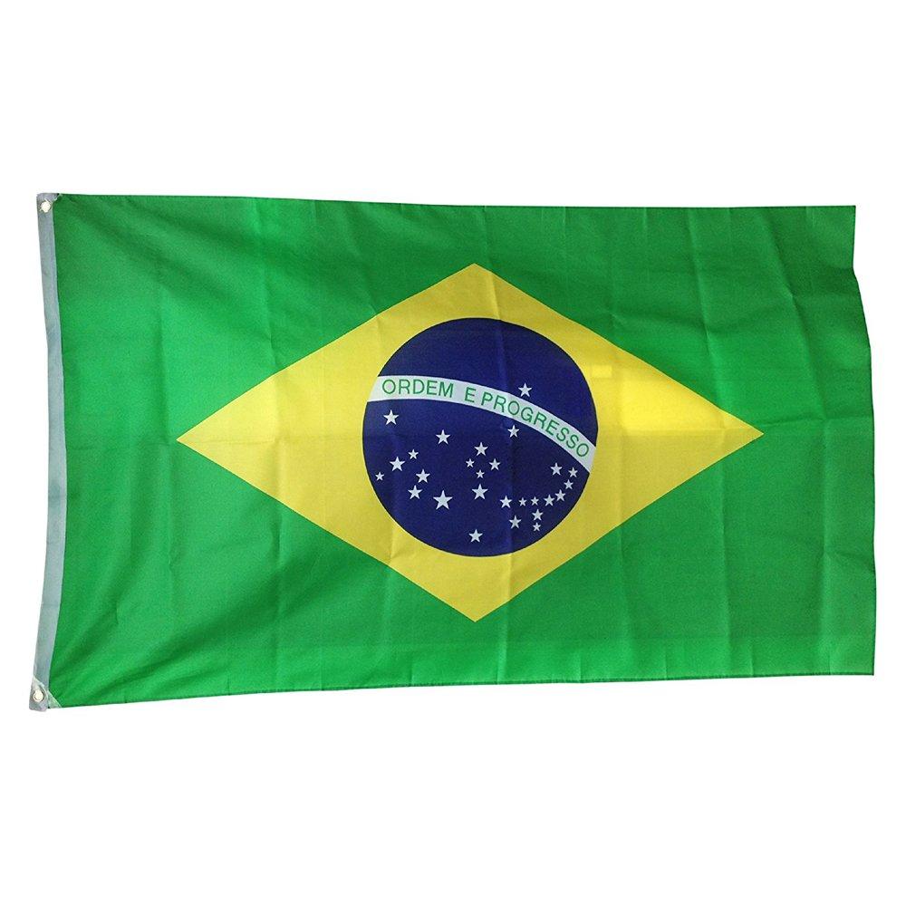 Nicebuty, Bandiera nazionale del Brasile, per decorazioni internazionali, club sportivi, ricorrenze, eventi, festival, 90x 150cm