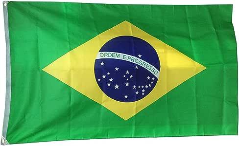 DDG EDMMS – Bandera de Brasil para mástil, ideal para eventos y actividades, 90 x 150 cm: Amazon.es: Deportes y aire libre