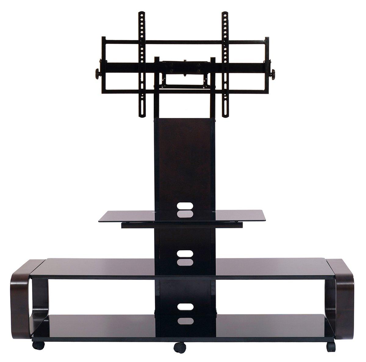 TransDeco TD685ES TV Stand for 35-85'' TV, Espresso/Black