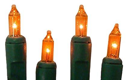 Mini Christmas Lights.Sienna Set Of 20 Battery Operated Orange Mini Christmas Lights Green Wire
