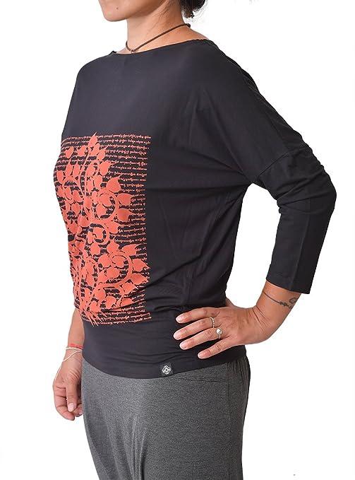 virblatt Camiseta Yoga Deportiva Mujer de bambù de Manga ...