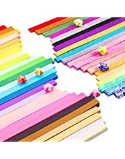 1850 Sheets 3 Styles 47 Colors Origami Stars Paper Double Sided and Luminous and Glitter Paper Set