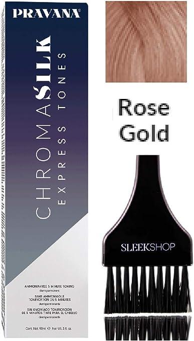 Pravana HenkelPravana Chromasilk Express Tones - Tinte permanente para el cabello (5 minutos, sin amoniaco, color crema, seda cromática, tonificación ...