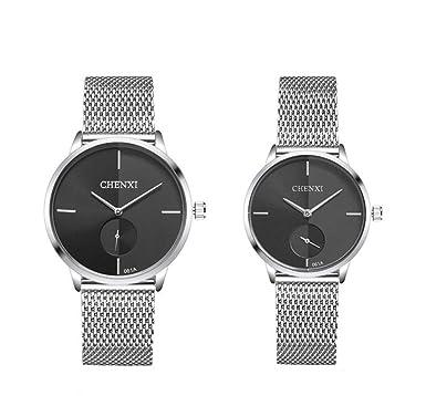 Swiss Brand - Reloj de Pulsera para Parejas (Acero Inoxidable ...