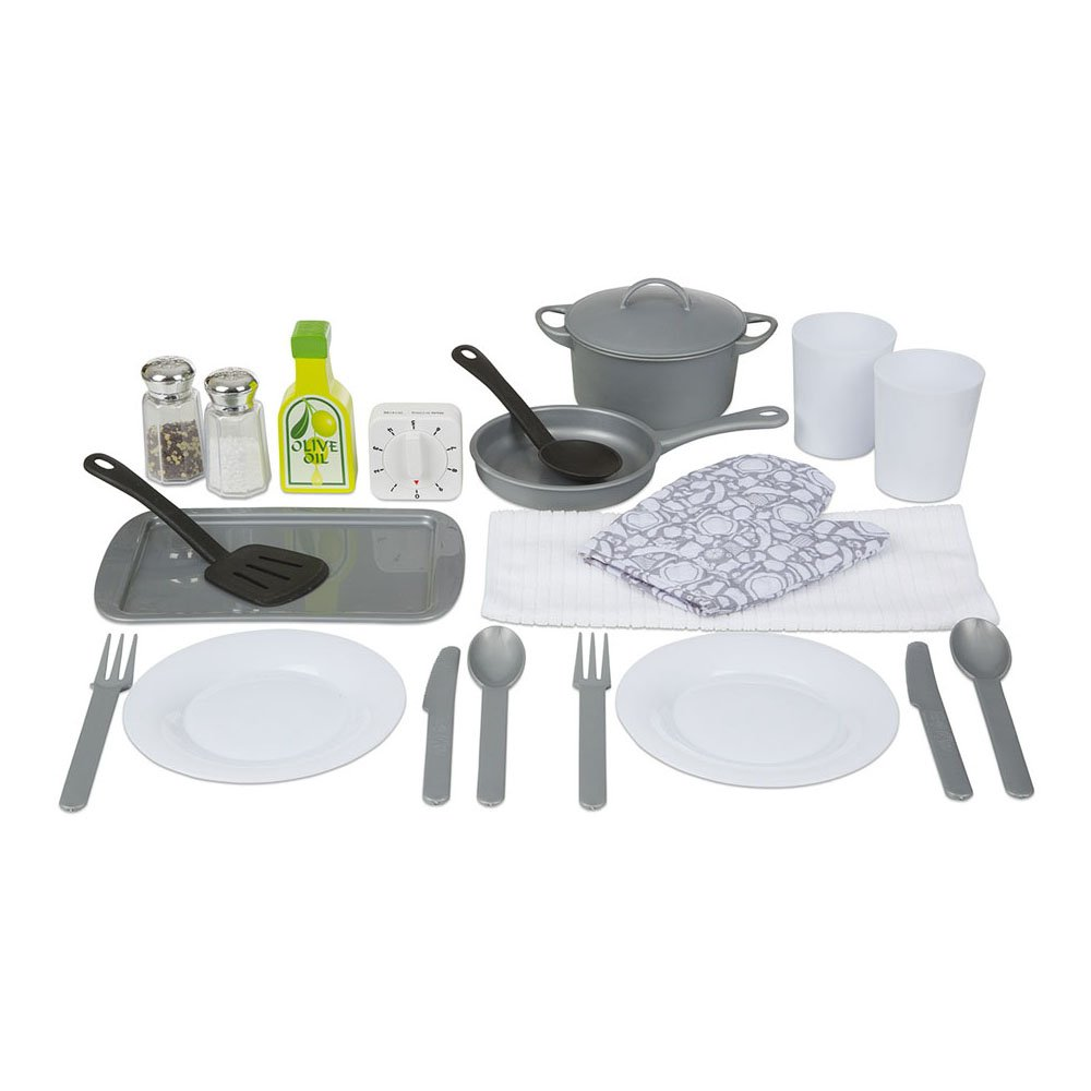 Amazon.com: Melissa & Doug 22-Piece Play Kitchen Accessories Set ...
