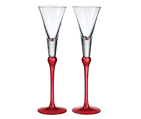 amazon com lillian rose tall red wedding toasting flutes table