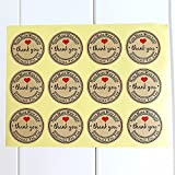 JETTINGBUY Thank You Stickers Label, Thank You Hand Made with Love Especially for You Stickers,10 Sheets(120pcs)