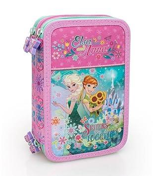 Disney Frozen 55224 Estuche 3 Bisagras, Plumier Triple ...