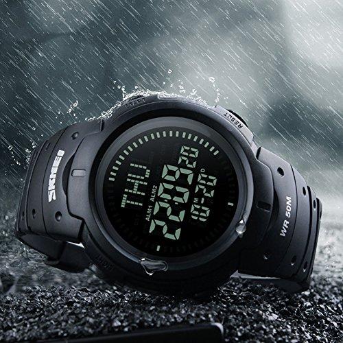 eYotto Men's Digital Watch 50M Waterproof Sports Military