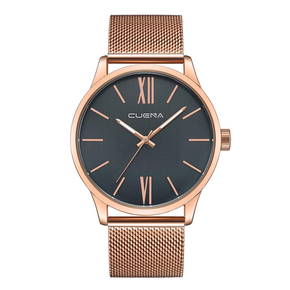 Men's Watches, VANSOON Fashion Stainless Steel Quartz Analog Wrist Watch Sport Watches Gifts Luxury Wristwatch Classic Digital Bracelet Watch for Men Gift Clearance