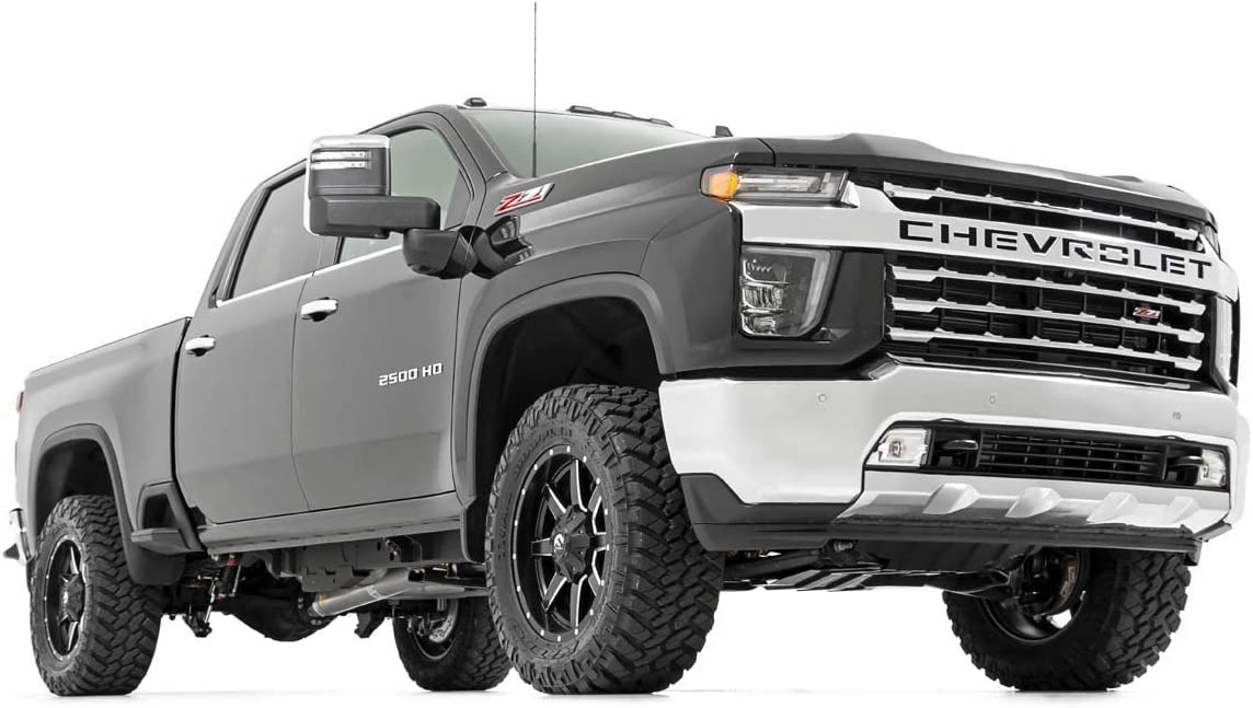 Shock Extenders Tie Rod Sleeves Square U-Bolts Supreme Suspensions 2 Rear Blocks Full Lift Kit for 2011-2019 Silverado Sierra 2500HD 3500HD Adjustable 1 to 3 Front Lift Torsion Keys