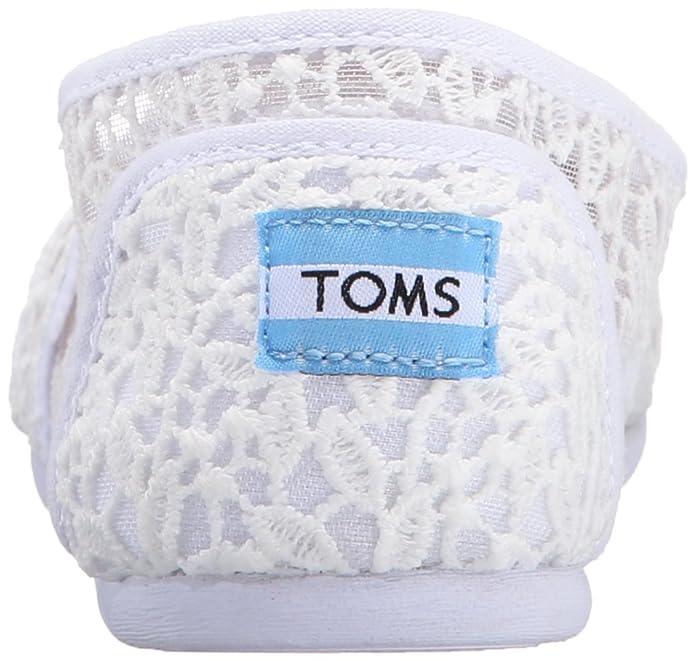 1971af502e0 Toms Womens 10008033 White Lace Leaves Alpargata Flat  Amazon.ca  Shoes    Handbags